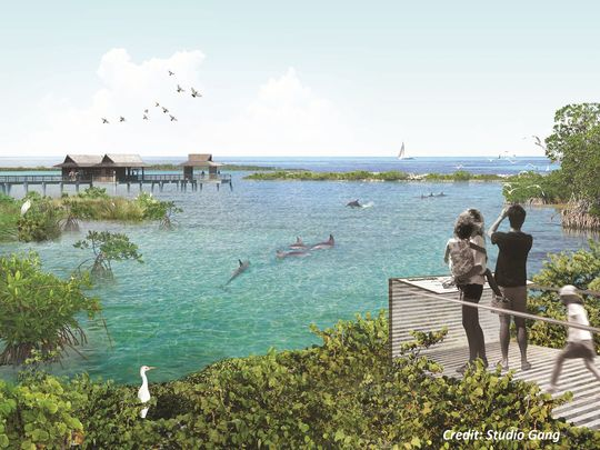 A rendering of what the National Aquarium's oceanside sanctuary might look like. USA TODAY